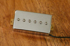 HUMBUCKER SIZED P90 BRIDGE PICKUP ALNICO 5 MAGNETS IN CHROME