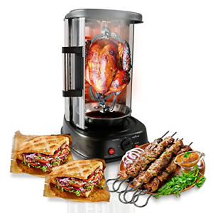 NutriChef Countertop Rotating Vertical Oven Rotisserie Shawarma Machine PKRTVG34