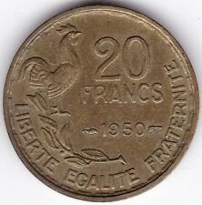 1950 France 20 francs *** COLLECTOR *** 3 plumes ***