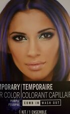 Temporary hair color chang add purple  highlights  come in wash out kit color