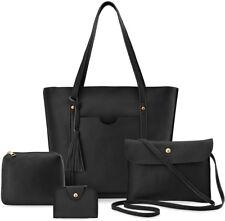 Damentaschen 4 in 1 Shopperbag Clutch Kosmetiktasche Kartenetui schwarz