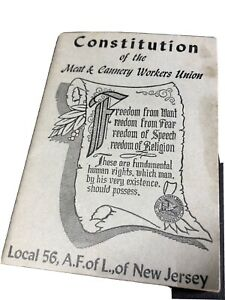Constitution of the meat and cannery workers union