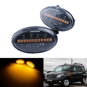 2x Seitenblinker Klar Linse LED Lampe Für Smart Fortwo W450 Mercedes Citan W415