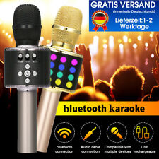 Dynamic LED Karaoke Mikrofon Wireless bluetooth Lautsprecher Mic KTV Handheld