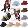 Sun Jazz Gangster Panama Cap Men Women Unisex Trilby Fedora Summer Beach Hat
