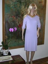 VERSACE Jeans Couture Italy DRESS Lavender V Front Asymmetrical V Back 32/46 EXC