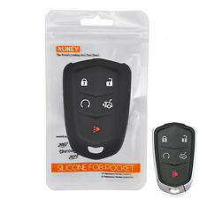 For Cadillac CT6 ATS CTS XTS SRX XT5 Fob Remote Jacket  Silicone Key Case Cover