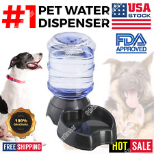 Automatic Pet Water Dispenser Feeder Puppy Dish Food Feeding Bowl Cat Dog