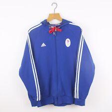 Vintage ADIDAS Team GB Blue Full Zip Hoodie Jacket | Olympics Sport | Large L