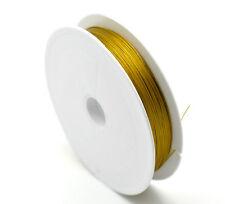 1 Rouleau Fil d'acier Doré pr Bijoux 0.45mm