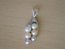 7 mm AA+ Multicolor Freshwater Cultured Pearl Pendant-pn53