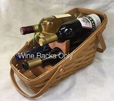 Custom Made Wood Wine Inserts Only for the Longaberger Large Vegetable Basket
