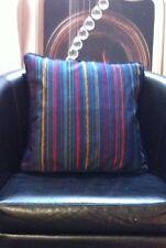 Navy with Multicolour Stripe Design Velour Evans Lichfield Cushion Cover