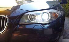 FARI NERI BMW SERIE 5 F10/F11 10-13 ANGEL EYES LED + MOTORINI PER ALOGENI SERIE