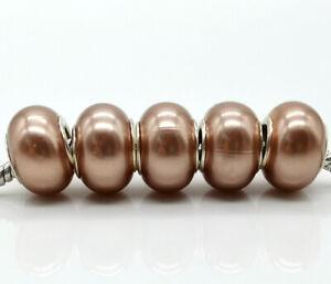 50pcs hot new big hole bead for 925 fashion Bracelet DIY charm beads #5