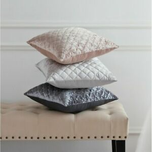Sleepdown Velvet Sequins Quilted Diamond Decorative Square Luxury Cushions