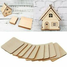 Wooden Chips Woodworking Supplies Unfinished 50 Pcs/Set Coasters Craft