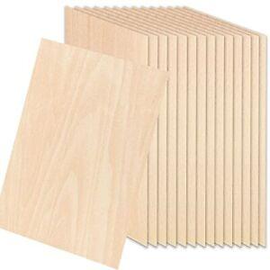 15 Pack Unfinished Wood Sheets, Thin Balsa Wood Sheets DIY Wood Board Hobby