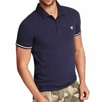 Guess Jeans USA Stretch Cotton Polo Shirt - Navy M02P45J1300 T