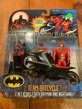 The New Batman Adventures Team Batcycle includes Batman and Nightwing