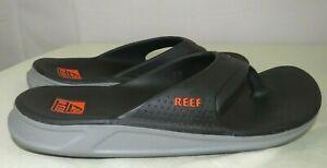 Reef Men's Sandals Charcoal/Grey/Orange Flip Flops Size 9 US