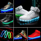 NEW 2018 High Top Sports Shoes 7 Led Light Lace Up sneaker Luminous Casual Shoes