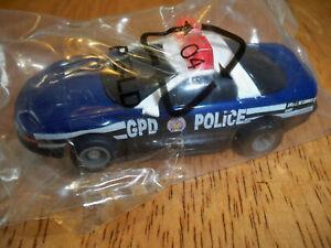 Tyco Mattell GPD Police In set Bag Set only- Batman slot car set slot car Unused