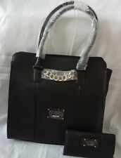AUTHENTIC NEW NWT GUESS LOCKPORT SAFFIANO TOTE BAG PURSE WITH MATCHING WALLET