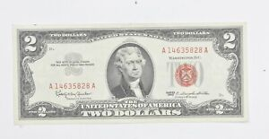 Crisp 1963 Red Seal $2 United States Note - Better Grade *341