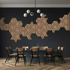 3D Wandpaneele Kork Wandverkleidung Akustik Platte Wohnzimmer Kork Wand