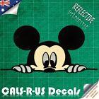 Mickey Mouse Peek Stare REFLECTIVE Vinyl Car Decal Sticker Bike Motorcycle