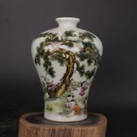 Chinese old porcelain vase Pink Sanyang Kaitaitu mei Bottle