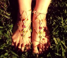 The Eccentric Hippie Handmade - Rasta Barefoot Sandals
