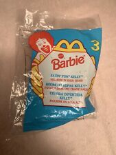 Vintage Barbie Eatin' Fun Kelly In High Chair McDonald's Happy Meal 1998 Doll 4""