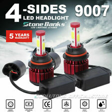 Pair 9007 Led Headlight Bulb Hi/Lo Beam 120W 32000Lm Hb5 4Side+Canbus Emc 6000K