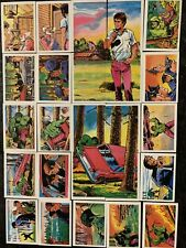 More details for the incredible hulk 1979 fks. 100% complete full set 180 picture cards & wrapper