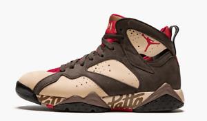 Air Jordan 7 Retro Patta Brown Nubuck Basketball Sneakers