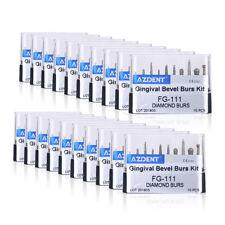 20Packs Dental Diamond Burs Gingival bevel Bus Kit Black FG-111 AZDENT