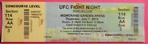 UFC ULTIMATE FIGHT NIGHT ORIGINAL USED TICKET MGM LAS VEGAS, JULY 7 2016