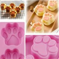 Cat Dog Paw Silicone Fondant Mold Cake Soap Cookies Chocolate Tin Baking Mould G
