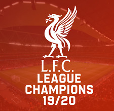 Liverpool Football Club 19/20 Champions LFC United uk BPL vinyl decal sticker FC