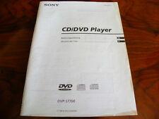 Sony DVP - S 7700 CD/DVD player  Gebruiksaanwijzing  manual (NL)