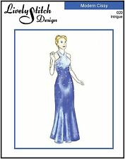 """Intrigue / sewing pattern for the 21"""" Modern Cissy by Madame Alexander"""