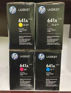 New Genuine HP 641A Black And Color Toner Cartridge LaserJet 4600 4610 4650 Box