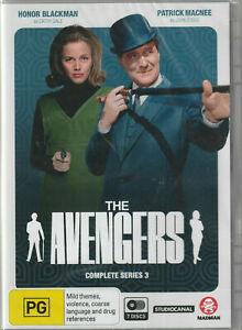 THE AVENGERS Series 3 - Brand new sealed 7dvd set - region 4 - free post!