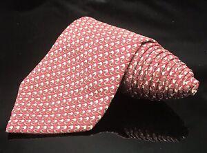 Seahorse Pattern Tie, 100% Silk, Red necktie sea horse