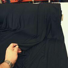 schwarz Jersey weich und blickdicht Bekleidungs Stoff elastisch Meterware Tolko