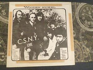 Crosby Stills Nash & Young 1969 Wooden Nickel LP Vinyl Live Recording  Rare
