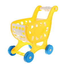 MagiDeal Play Pretend Kids Toddler Supermarket Grocery Shopping Cart Yellow