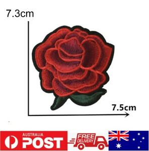 1pc Rose Patch Embroidered Cloth Applique Badge Iron Sew On DIY